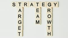 Business development buzz words falling away Stock Footage