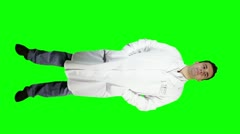 Young Doctor Scientist Full Body Greenscreen 1 720 Stock Footage