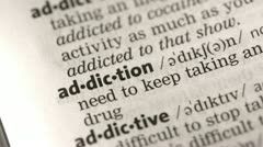 Definition of addiction - stock footage