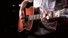 Acoustic Guitar Chords Close Up 2 HD - stock footage