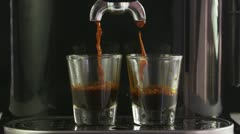 Espresso Machine Slow Motion Stock Footage