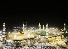 Makkah kaaba hajj muslims Stock Photos