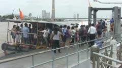 Passengers Boarding and Disembarking in Bangkok p61 Stock Footage