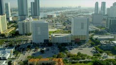 Aerial view downtown skyscrapers, Miami Stock Footage