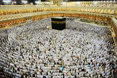 Makkah kaaba hajj muslims Stock Photos