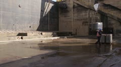 Dry dock with crane 2 Stock Footage