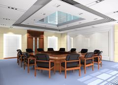 3d meeting room Stock Illustration