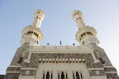 makkah kaaba minarets - stock photo