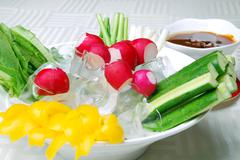 food in china-- vegetable receive favors sweet sauce - stock photo