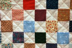 Patchwork quilt Stock Photos