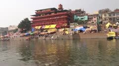 Assi Ghat Stock Footage