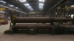 steel plate rolling machine - stock footage