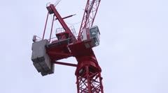 Red Tower crane cab - stock footage