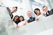 Stock Photo of group of business people at working place