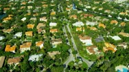 Stock Video Footage of Aerial view residential  Coconut Grove South Miami