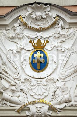 Stock photo of church exterior carvings