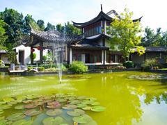 sirindhon chinese cultural center, mae fah luang university, chiang rai, thai - stock photo