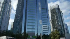 Skyscraper,business tall office buildings district. Stock Footage