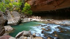 Zion Canyon Narrows Utah Stock Footage