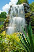 Beautiful tropical waterfall - stock photo