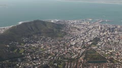 Cape Town with cable car - stock footage