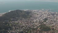 Stock Video Footage of Cape Town with cable car