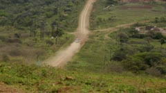 Dusty road in KwaZulu Natal 2 Stock Footage