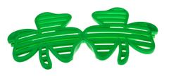 St. patrick's funky clover striped sunglasses Stock Illustration