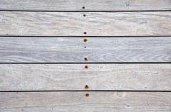 frontal wooden deck - stock photo