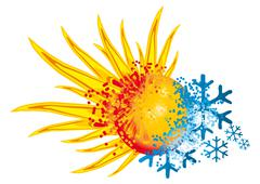 Logo hot and cold Stock Illustration