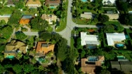 Stock Video Footage of Aerial view exclusive  residential properties nr Miami