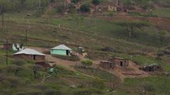Zulu village with 4x4 Stock Footage