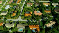 Aerial view exclusive  residential properties nr Miami Stock Footage