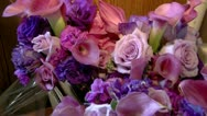 Colorful Bouquet of Bridal Flowers Stock Footage