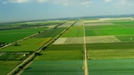 Stock Video Footage of Aerial view agricultural farming land Southern Florida