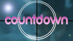 Countdown Leader Clock Stock Footage