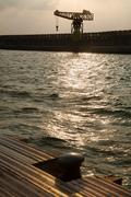 inclement vintage port - stock photo