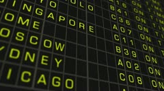 International Airport Timetable All Flights Get Cancelled 02 720 - stock footage