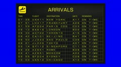 International Airport Timetable All Flights Gets Cancelled BS ARRIVAL 720 Stock Footage