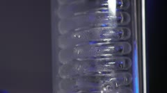 Distillery tubes - liquid condensing on glass coil Stock Footage