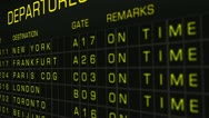 Stock Video Footage of International Airport Timetable All Flights On Time 04 720