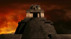 Maya Pyramid Dramatic Sunset 02 720 Stock Footage