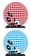 Dj and Disco Ball Stock Illustration