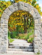 Garden archway - stock photo