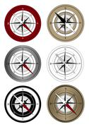 Compass Icons - stock illustration