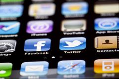 Iphone 4 apps Stock Photos