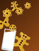 Cookies and Milk Stock Illustration