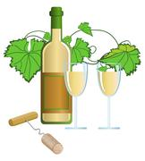 Vineyard Stock Illustration