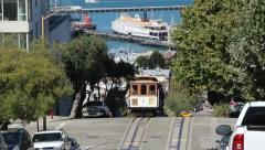 Cable Car Up San Francisco Stock Footage