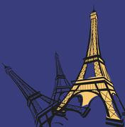 Eiffel Tower - stock illustration